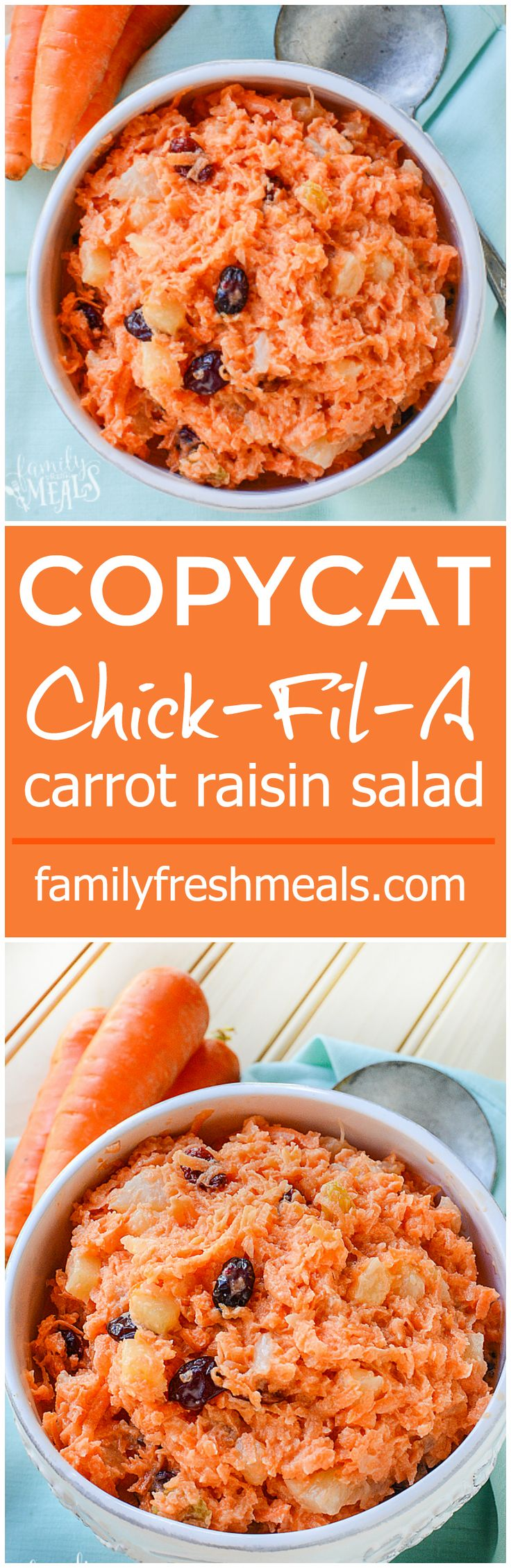 Nothing beat this COPYCAT Chick-Fil-A Carrot Raisin Salad Recipe!
