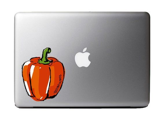 Watercolor Red Bell Pepper Full Color – Vinyl Decal for Macbook Laptop Tattoo Love Glitter Sticker W