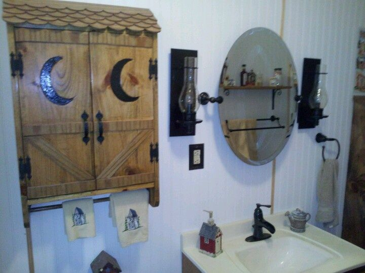 82 best images about my outhouse themed bathroom on for Outhouse bathroom ideas