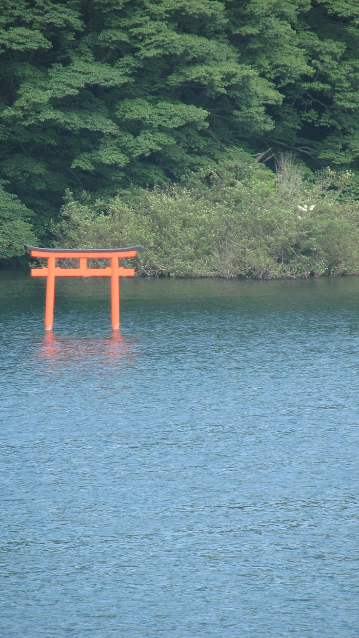 A Shinto torii rising peacefully from the lake identifies a sacred space. @beaumonttiles  The Next Big Thing – Natural trend