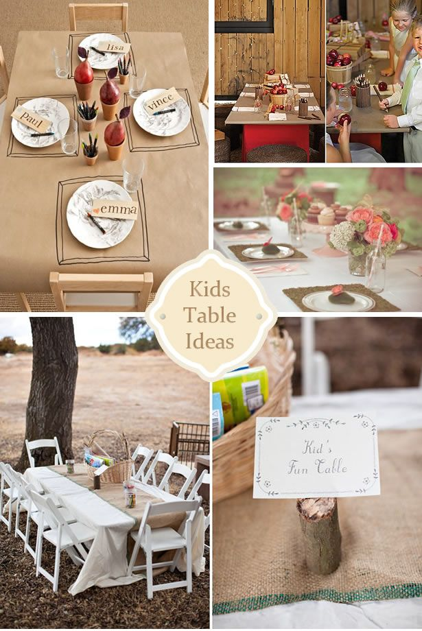 wedding ideas for kids table 17 best images about table at functions on 27842