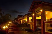 Night view of the Resort. Wonderfully lit not disturbing the nature