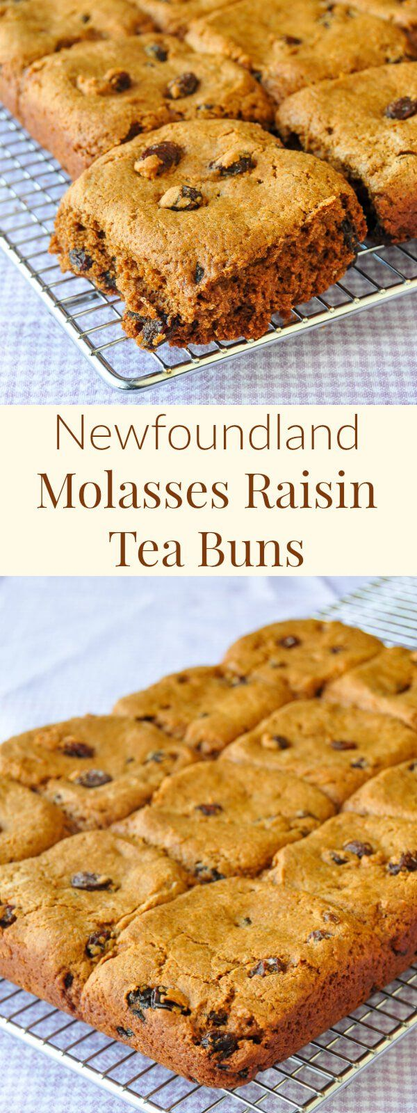 Newfoundland Molasses Raisin Tea Buns - my decades old recipe for soft, delicious, sweet molasses raisin tea buns that can be made using cinnamon as well. Perfect for a mug up any time.