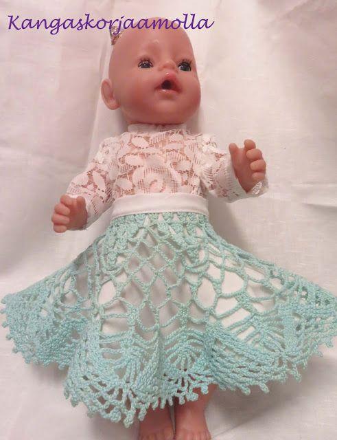 3ce72b32c59d Kangaskorjaamolla  Baby Born nukelle vaatteita   kaavat