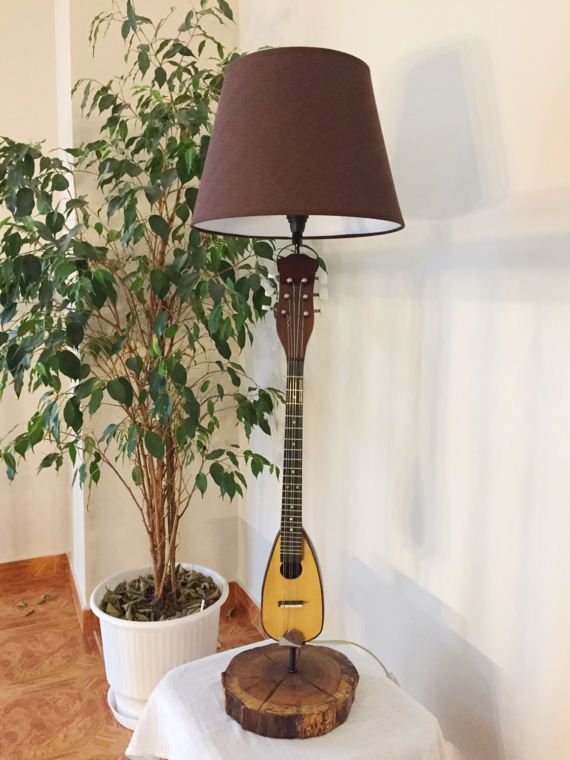 Lamp  Baglama by MusicLampsArt on Etsy