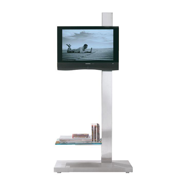 TV stand in stainless steel and glass mod. Dolce Vita, Cattelan. // Soporte de la TV en acero inoxidable y vidrio mod. Dolce Vita, Cattelan. // Porta tv in acciaio inox e cristallo mod. Dolce Vita, Cattelan. #tvstand #soportedelatv #portatv #steel #acero #acciaio #crystal #cristal #cristallo #cattelan
