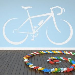 bike Outline Wall Sticker Bike Wall Art