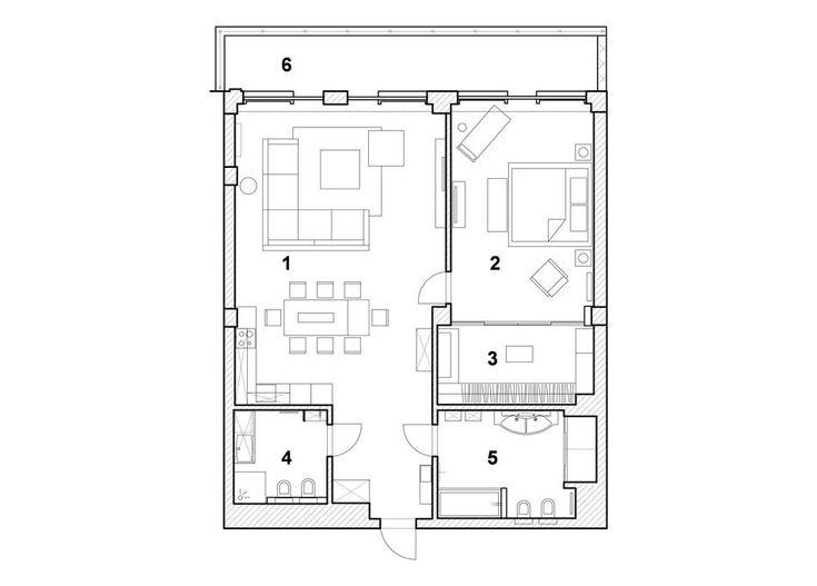 Minimalizm tarzında modern bir daire iç tasarım