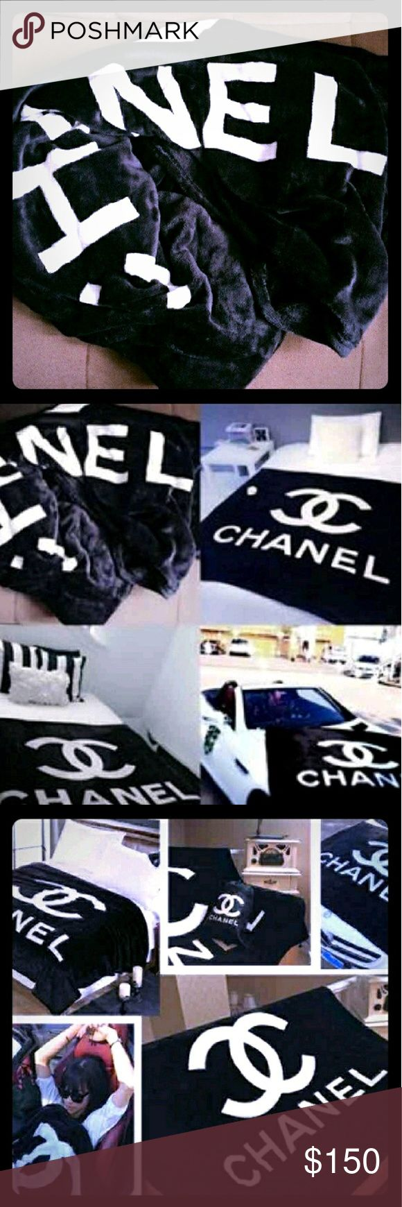 """🚨SALE! HTF CC Chanel VIP blanket(XL sz 70"""" x 80"""") 😡 PRICE IS FIRM UNLESS BUNDLED, NO OFFERS PLEASE!😡   💃💃Save BIG with my 20% off 2 or more items bundle discount 💣💥    😱Hurry up before they're gone! This listing is for the XL sz blanket(fits on a queen sized bed approx 70"""" x 80"""")*SEE OTHER LISTINGS FOR LG SZ* Wrap yourself in exquisite LUXURY in this sensationally SOFT CC VIP Chanel blanket!💥Get em while you still can!!💥😱These are AUTHENTIC VIP GIFT ITEMS! Comes with dust bag…"""
