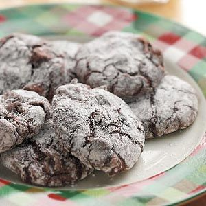 Brownie Crackles Cookies Recipe from Taste of Home #ChristmasCookies