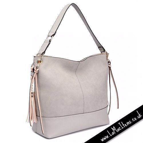 Frosted Leather Slouch Bag