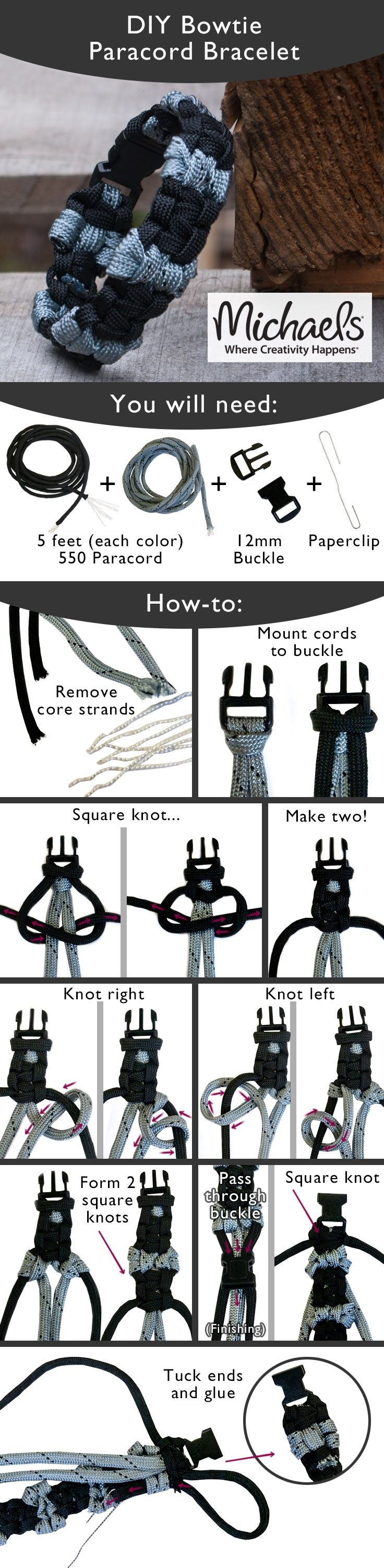 Tie a few knots to create this trendy DIY Paracord Bracelet