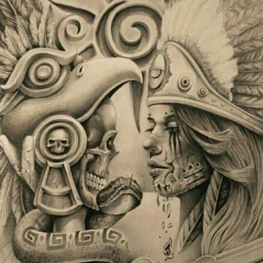 aztec chicano prison drawings mexican tattoos tattoo skull drawing lowrider culture arte symbols designs warrior gangster azteca princess pride chicana
