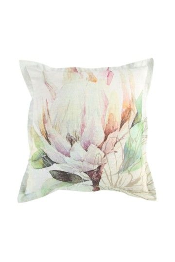 Printed Pastel Protea 55x55cm Scatter Cushion