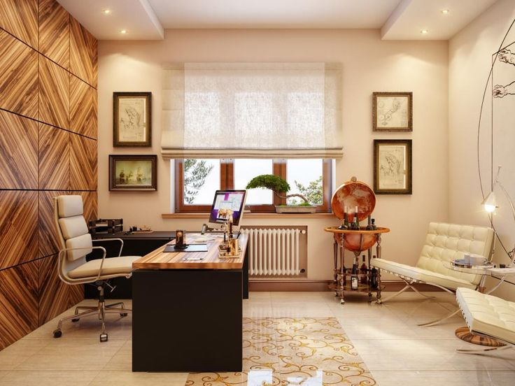 http://taizh.com/wp-content/uploads/2014/11/Rustic-home-office-design-with-simple-wooden-table-and-beige-swivel-chair-beside-wooden-wall-different-and-shades-window-also-lighting-ceiling-ideas.jpg