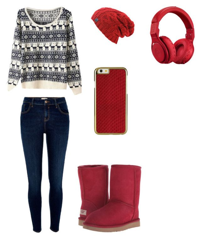 """""""rocking X-mas"""" by aliza-ahmed on Polyvore featuring River Island, UGG Australia and Beats by Dr. Dre"""