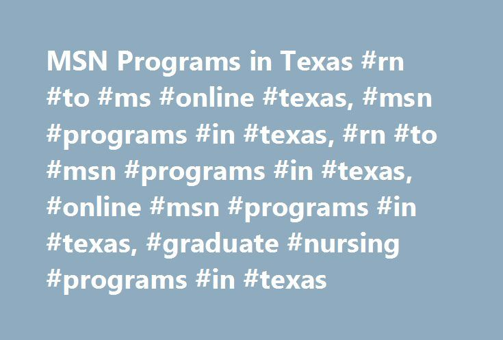 Online Nursing School Programs In Texas