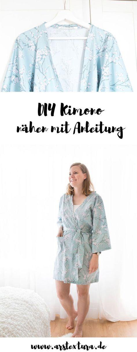 DIY Kimono Morgenmantel nähen für Anfänger – sei your own kimono