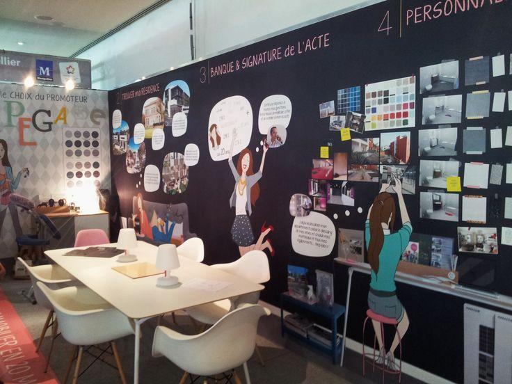 EXPERTS DU NEUF a remarqué au Salon #immobilier de #Montpellier l'original stand du promoteur PEGASE IMMOBILIER ! A l'image de sa communication print toujours surprenante.