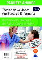 PAQUETE AHORRO Técnico en Cuidados Auxiliares de Enfermería del Servicio Navarro de Salud-Osasunbidea Ahorro de 13 €. (Incluye Volumen 1 y 2, test y simulacros de examen)...