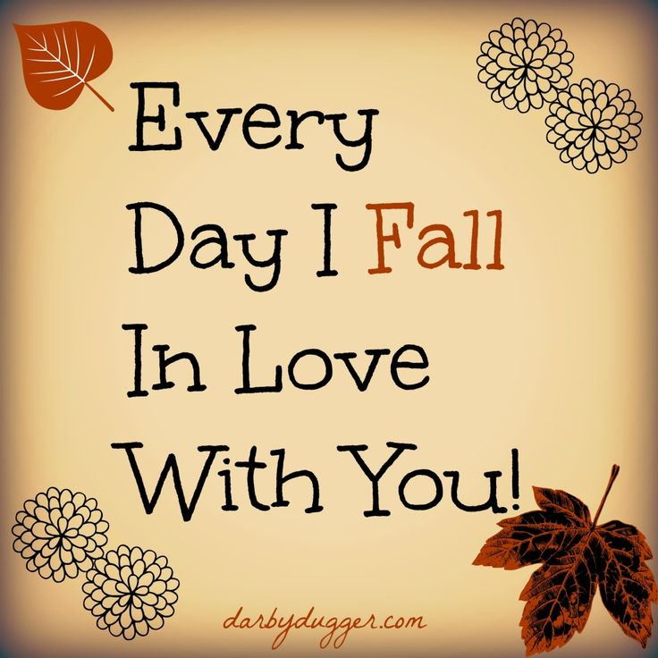 Celebrate Fall with Your Husband by listing ways you fall in love with him daily!