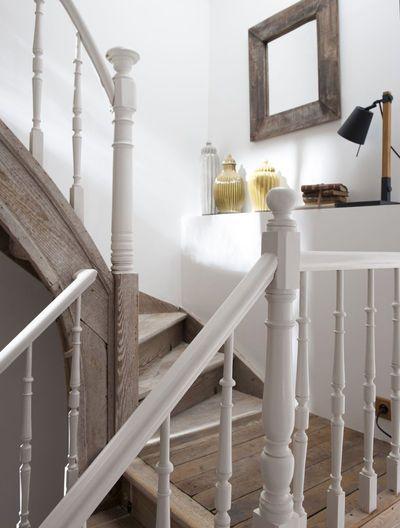 Les 25 meilleures id es de la cat gorie rampe d 39 escalier for Rampe escalier bois flotte