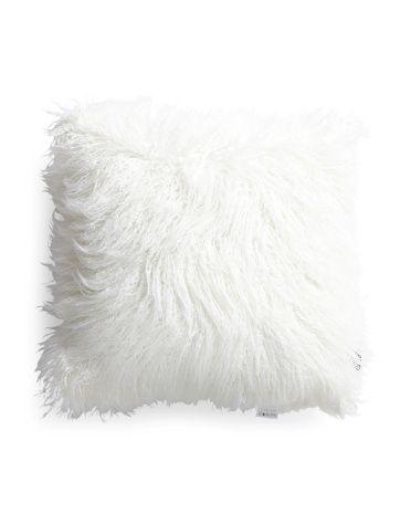 18x18 faux mongolian fur pillow decorative pillows tjmaxx