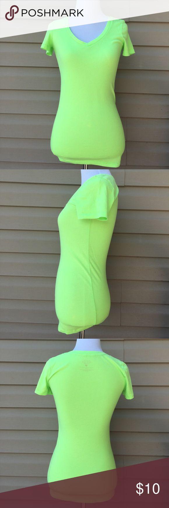"Victoria's Secret women's cotton lingerie shirt Nice green v- neck shirt 60% cotton 40% polyester, no stains or holes. 14""W x 25""L Victoria's Secret Tops Tees - Short Sleeve"