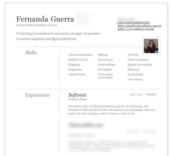 Linkedin Modelos De Curriculum Vitae Curriculum Vitae Edicion