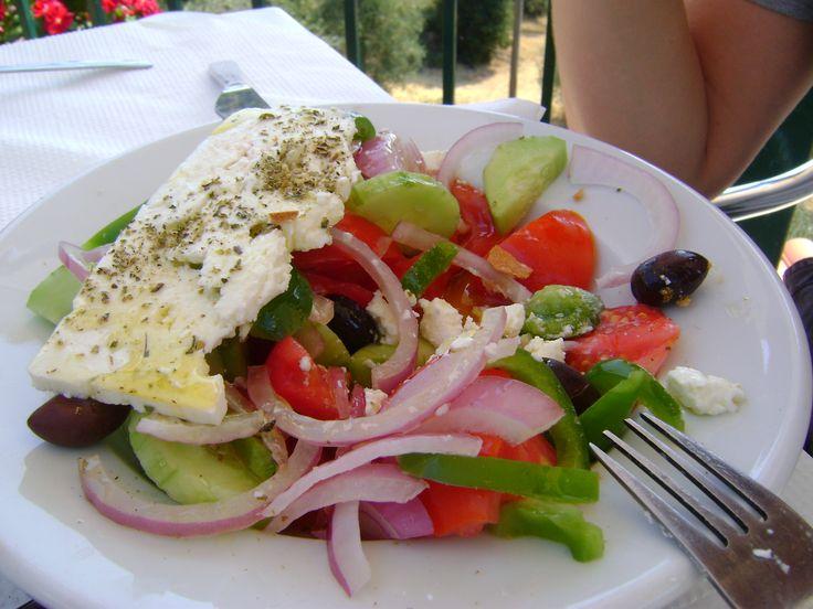 Prawdziwa grecka sałatka.