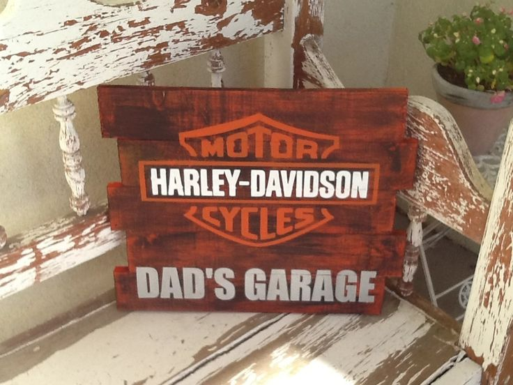"""14x22"""" Harley Davidson sign. Can customize to any size with any saying. Please email AmyRice713@aol.com for pricing, orders and shipping."""