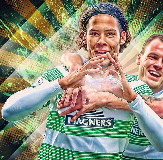 Virgil Van Dijk and Anthony Stokes