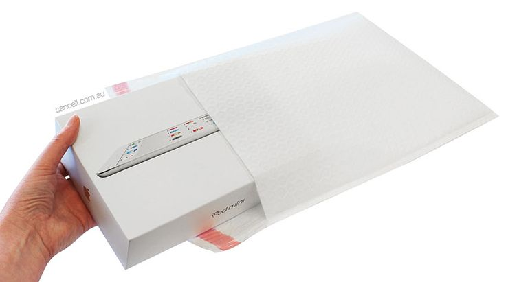 Sancell Armour White Padded Mailer. Proudly Made in Australia by Sancell Pty Ltd