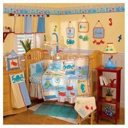 Amazon Go Fish 4 Piece Crib Bedding Set Baby