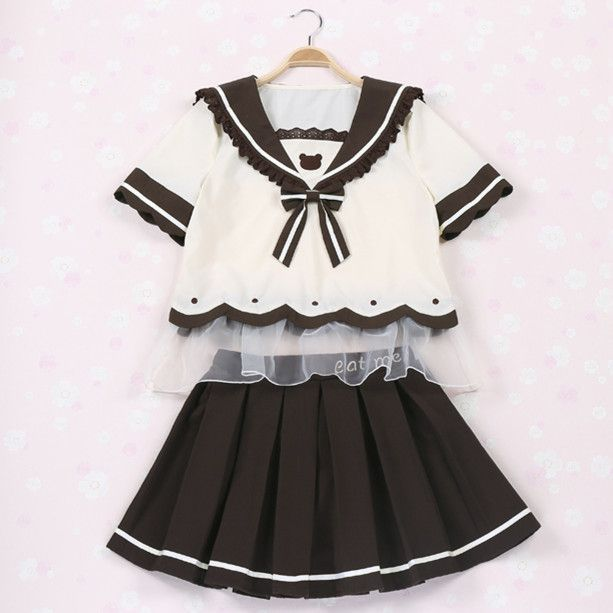 Black and white sailor outfit