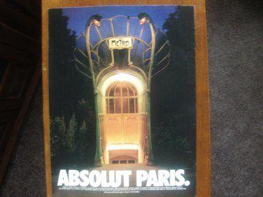 Ivanhoe162 on Ecrater-The Great Ebay Alternative: Original Vintage Magazine Advert Absolut Vodka