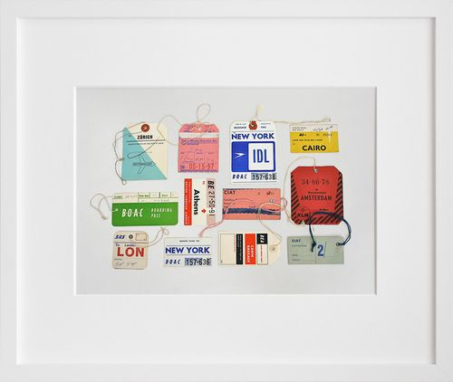 Proportional_500_2860_framed_1000Airlines Ticket, Tags Prints, Airlines Tags, Vintage Airlines, Art Prints, Travel Tags, Vintage Luggage, Vintage Travel, Tags Art