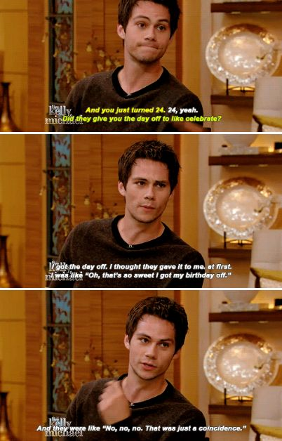 Dylan O´Brien on Live with Kelly and Michael - Video link is on my The Maze Runner board