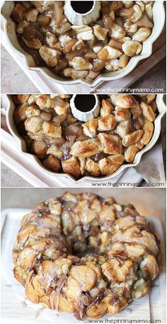 Try with coffee glaze to the top of bread when it's finished to make cool flavor combo -missbehavecutie Apple pie monkey bread. This is a great idea!