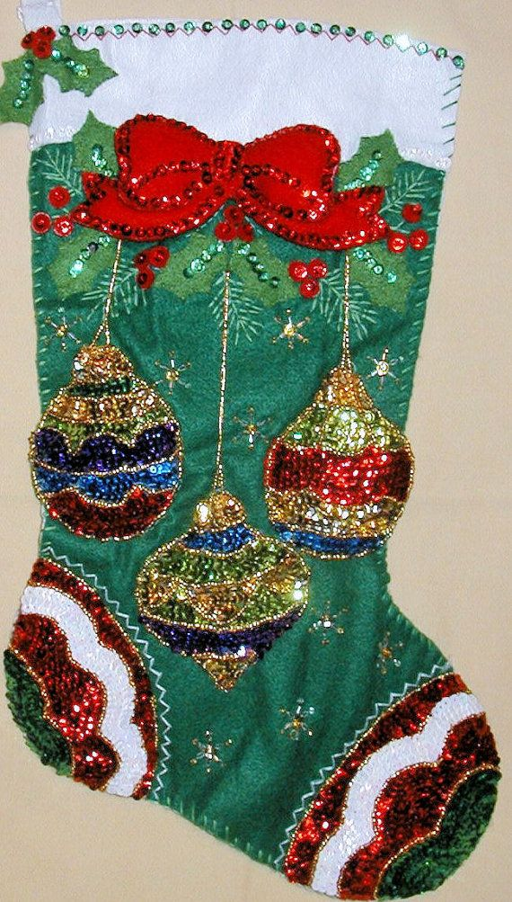 Bucilla Jeweled Ornaments Felt Stocking Kit by SCMShoppingSpree