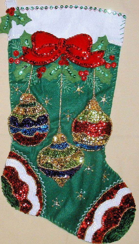 Bucilla Jeweled Ornaments Felt Stocking Kit by SCMShoppingSpree