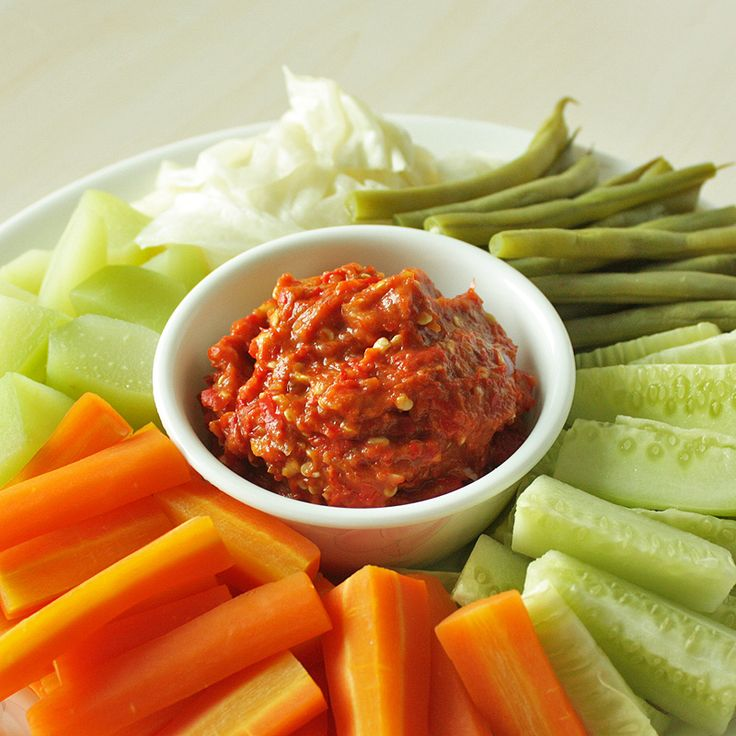 Lalap Sambal Terasi – Sundanese Vegetables with Shrimp Paste Chili Relish