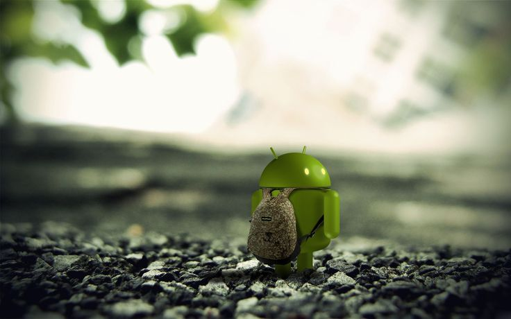 android with bag wallpaper hd
