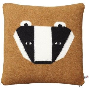 donna wilson's badger pillow