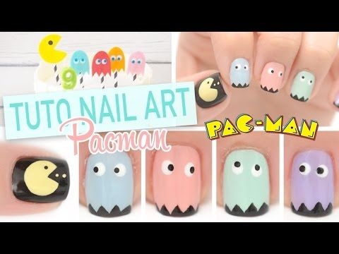 Nail art débutant ♡ Pacman - YouTube - yoko nail art