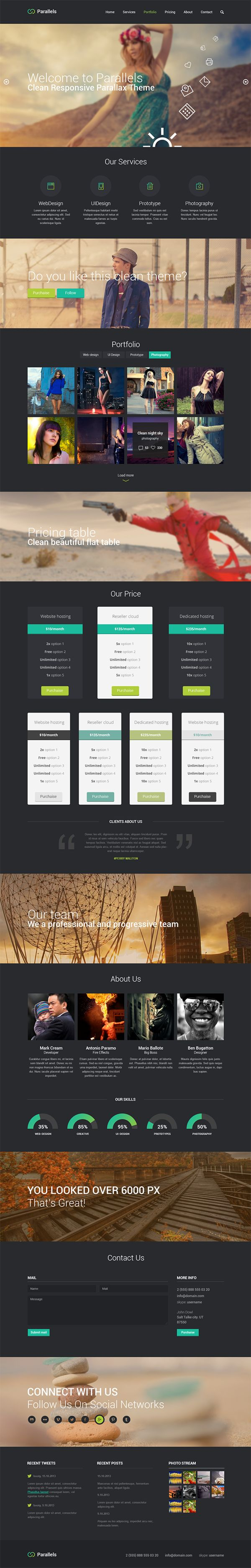 Free PSD Responsive Template/Dark https://www.behance.net/gallery/Free-PSD-Responsive-Template/14519733