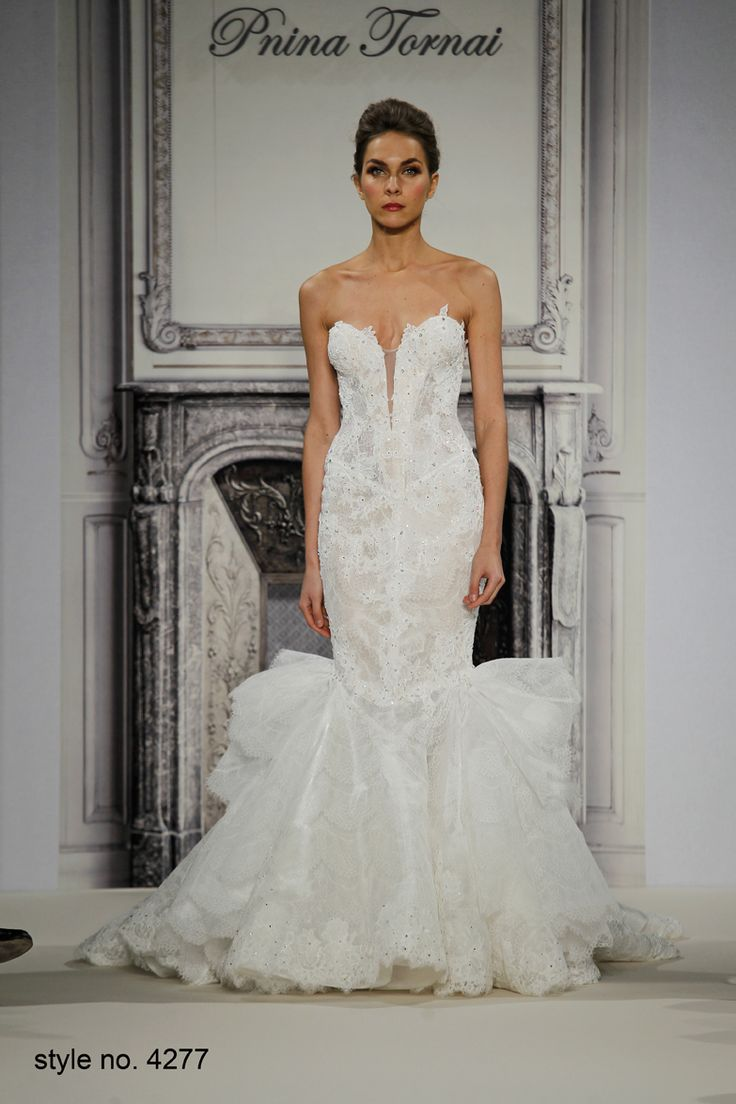 Daring and sexy pnina tornai wedding dresses spring 2014 for Lace wedding dresses with sleeves kleinfelds