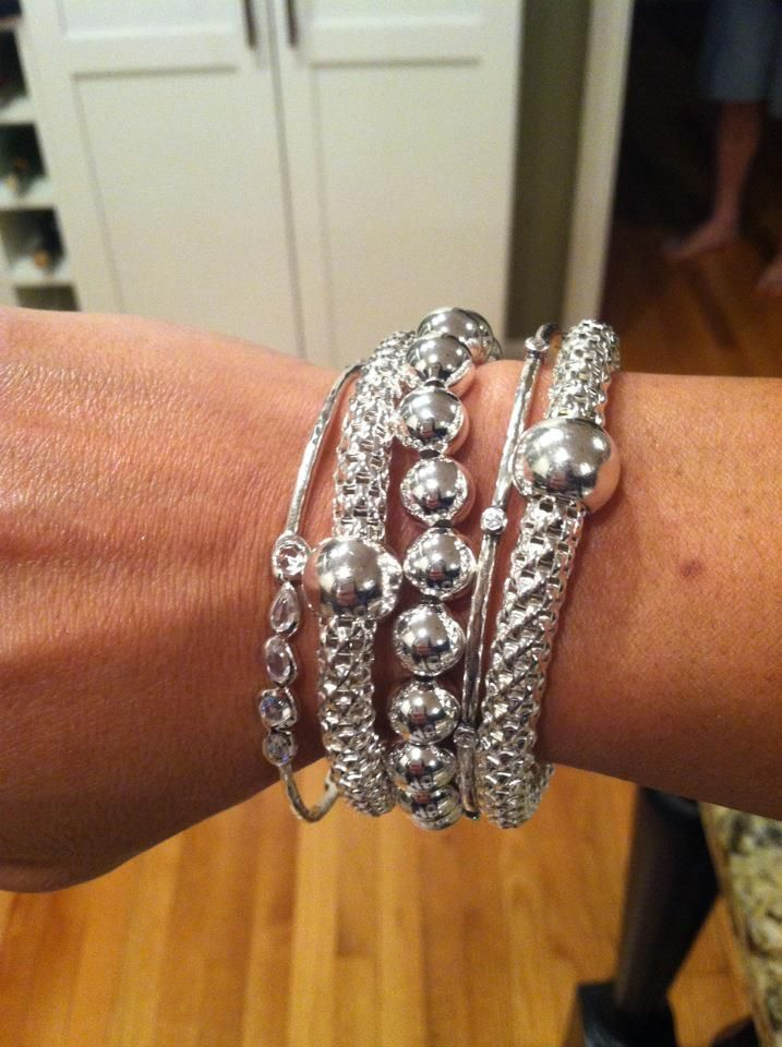Beautiful Arm Candy! Let me make your Silver wishes come true. Place your order for these beautiful bracelets at www.mysilpada.com/Sara.stucky