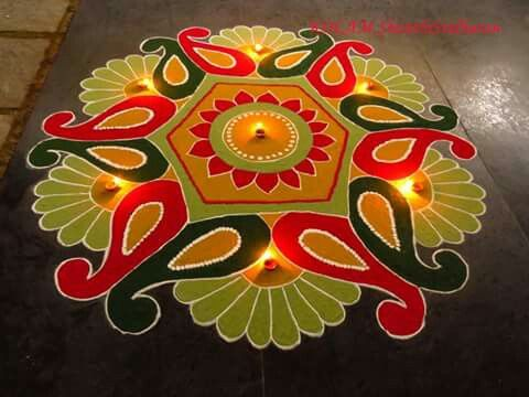 Beautiful design rangoli