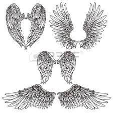 Resultado de imagen para dibujos de alas de angel para colorear
